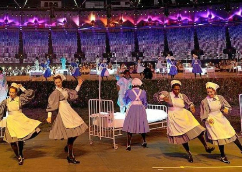 Denise Dancing in The Olympic Opening Ceremony